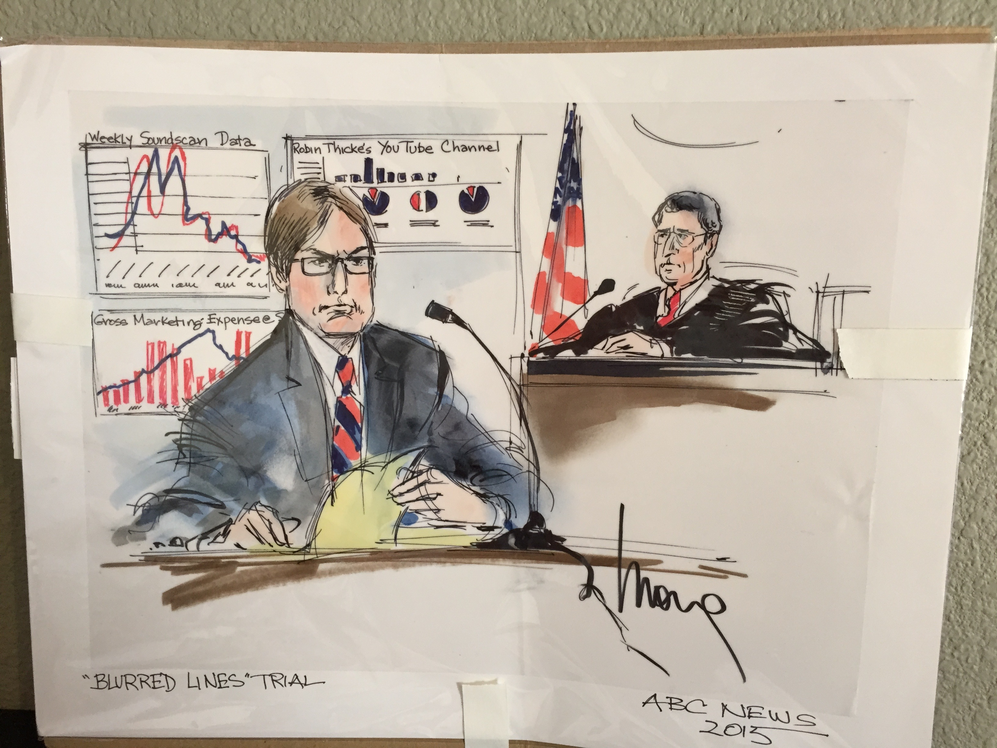 Doug Bania Blurred Lines Trial Testimony
